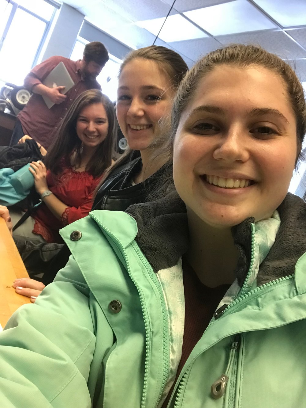 Kara with her Science Honors group members