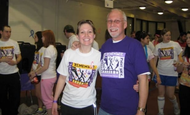 My Dad and me at Relay for Life