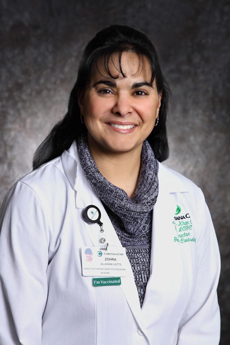 Zohra Ali-KhanCatts, MS, LCGC.Photo Credit: Christiana Care News