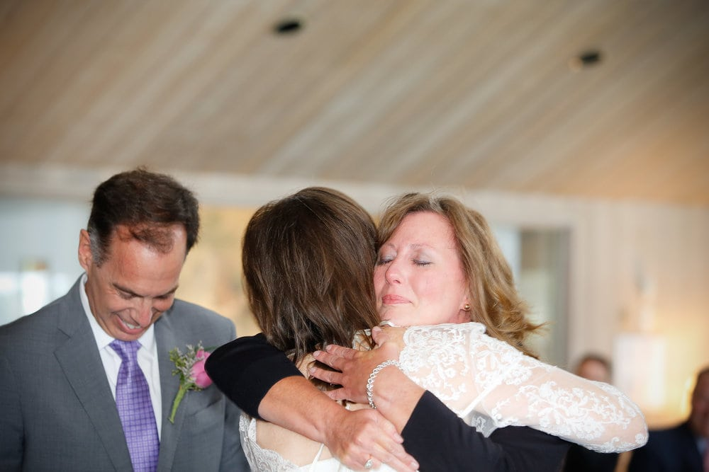 We surprised Kathy, and everyone else, by calling her up to break the glass with us at the end of our ceremony. We were acutely aware that without Kathy's gift, none of us would be standing there that day.